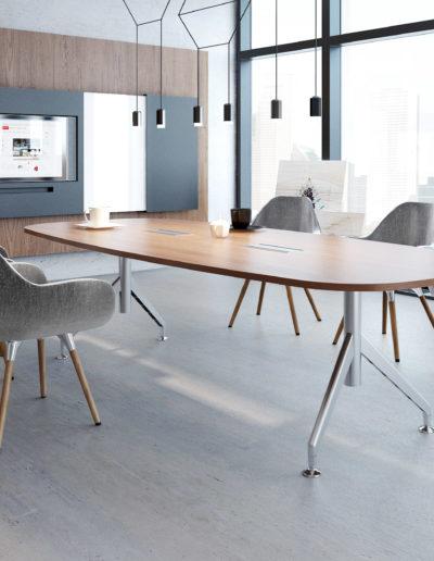 SAGADA vergadertafel en stoelen