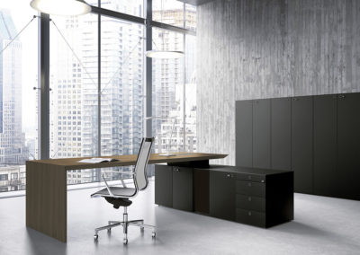 Sagada Fantoni MULTIPLICEO-EXECUTIVE DESK-WALNUT VENEER