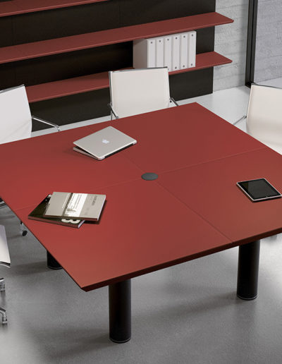 Sagada Fantoni MULTIPLICEO-SQUARED MEETING TABLE-LEATHER